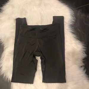 NWOT ONZIE leggings dark brown shiny